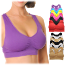 6-Pack: Angelina Seamless Classic Racerback Sports Bra