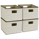 4-Pack: Household Essentials Storage Bins with Handles
