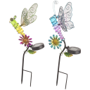 2-Pack: Darice Solar LED Dragonfly Metal Stake Lights