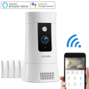 Zmodo Pivot Cloud 350° Rotating Smart WiFi Camera with Door/Window Sensors