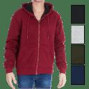 Nextex Men's Sherpa Lined Marled Hoodie Jacket