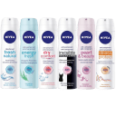 6-Pack: Assorted Nivea 48hr Deodorant Antiperspirant Spray For Women