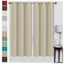 "2-Pack: 63"" Foam-Backed Blackout Curtain Panels"