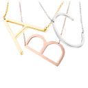 18K Gold Plated Initial Necklaces