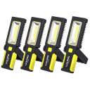 4-Pack: LUX-PRO 200-Lumen Broadbeam LED Magnetic Work Light Flashlights