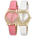 Laura Ashley Open Heart Patent Strap Watch