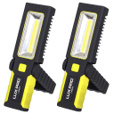 2-Pack: LUX-PRO 200-Lumen Broadbeam LED Magnetic Work Light Flashlight