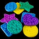 3-Pack Pop-It Push Bubble Sensory Toy