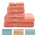 Revival 6-Piece Zero Twist 100% Egyptian Cotton Towel Set