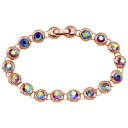 Prime and Pure 10 cttw Swarovski Crystals in Pink Rose Gold Tennis Bracelet