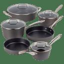 Cuisinart 10-Piece Hard-Anodized Nonstick Cookware Set
