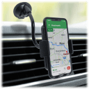 CobaltX Universal Adjustable Gooseneck Smartphone Mount with Leather Accent