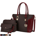 MKF Collection Shonda 3 Piece Tote with Cosmetic Pouch & Wristlet by Mia K.