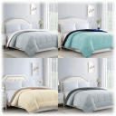 Bibb Home Reversible 2-Tone All Season Down Alternative Comforter