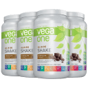 4-Pack: Vega One All-In-One Meal Replacement & Protein Shake (7.72lb Total)