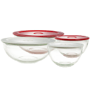 2-Pack: Decor Glass Bowls with Vented Lids