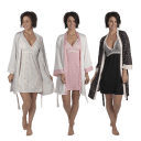 Nanette Lepore 2-Piece Robe and Chemise Nightgown Set