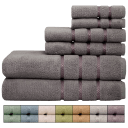 Pure Elegance 6-Piece 100% Cotton Luxury Towel Set