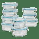 Diamond Home 18 Piece Glass Container Set