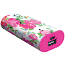 4000 mAh Floral Printed Powerbank part of The Macbeth Collection