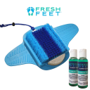 Fresh Feet Foot Scrubber Deluxe with Pumice Stone
