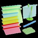 Home Hero 8-Piece Reusable Silicone Food Storage Bag Set