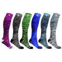 6-Pack: Extreme Fit Space Dye Knitted Compression Socks