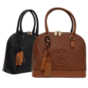 Adrienne Vittadini Trapunto Collection Signature Dome Satchel