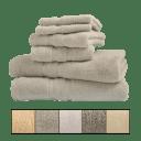 Bibb Home 6-Piece Egyptian Cotton Zero Twist Towel Sets