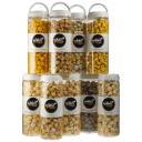 4-Pack: Nikki's Gourmet Popcorn Large 7-Cup Reusable Jars
