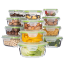Genicook 24-Piece Glass Food Containers with Lids