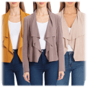 2-Pack: Bagatelle Faux Suede Draped Jacket