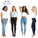 "ASOTV My Fit ""One Size Fits Always"" Denim Jeans"