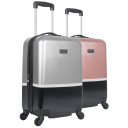 "Heritage Travelware 20"" Colorblock Hardside Carry-On Suitcase"