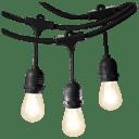 Glow 48-Foot Outdoor Weatherproof String Lights with 15 Edison Bulbs