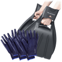 Brookstone Plastic Garden Hand Scoops and 3 Pairs of Garden Gloves