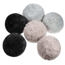 2-Pack: HoMedics Sqush Faux Fur Massage Pillows