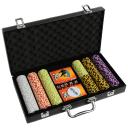 Governor of Poker 3 Chip, Dice, and Card Professional Case Set