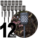 12-Pack of Malibu Calypso Solar-Charging LED Pathway Lights