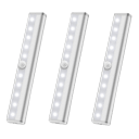 3-Pack: 10 LED Motion Sensor Stick On Light Bars