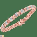 Diamond Muse 1/4 Ct Diamond Round Diamond X Link Bracelets
