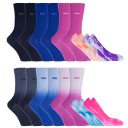 10-Pack: All Mixed Up Crew & Ped Socks