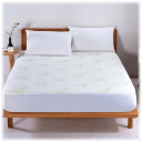 Rayon from Bamboo Aloe Vera Quilted Hypoallergenic Mattress Pad