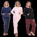 Angelina Kangaroo Pocket Top with Flannel Pants Pajama Set
