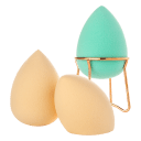 3-Pack: Almost Famous Beauty Blender Sponge with Rose Gold Stand